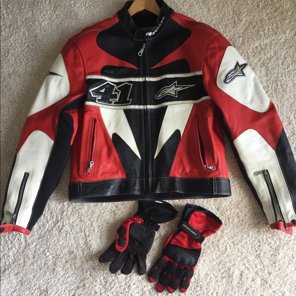 Alpinestars Motorcycle Jacket >> Alpinestars Jackets Coats Mens Motorcycle Jacket And Gloves 50